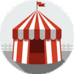 Dessin d'un chapiteau de cirque