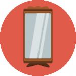 Symbole de la pièce de théâtre De l'autre côté du miroir