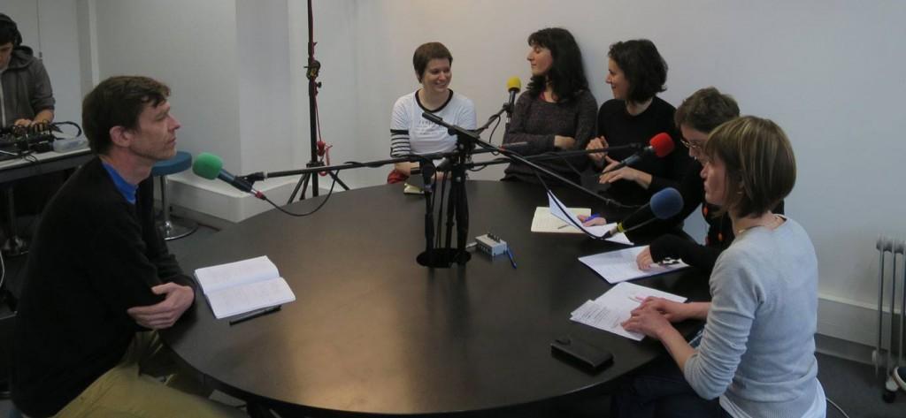 Coline Bouvarel à la Radio Les Enfants du Rhône